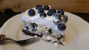 Heidelbeer-Michreis-Torte